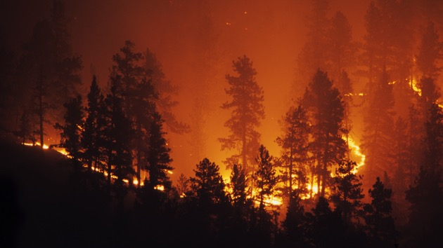 Ring of fire Bailey Colorado Rocky Mountain forest wildfire