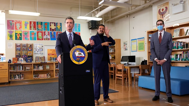 California Governor Newsom Speaks On State's School Safety And Covid Prevention Efforts